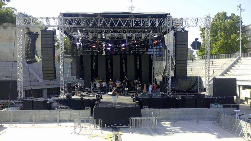 Meyer-Sound-Equipment in Mykonos, Installation Rental